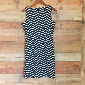 Ivanka Trump Black & White Chevron Dress